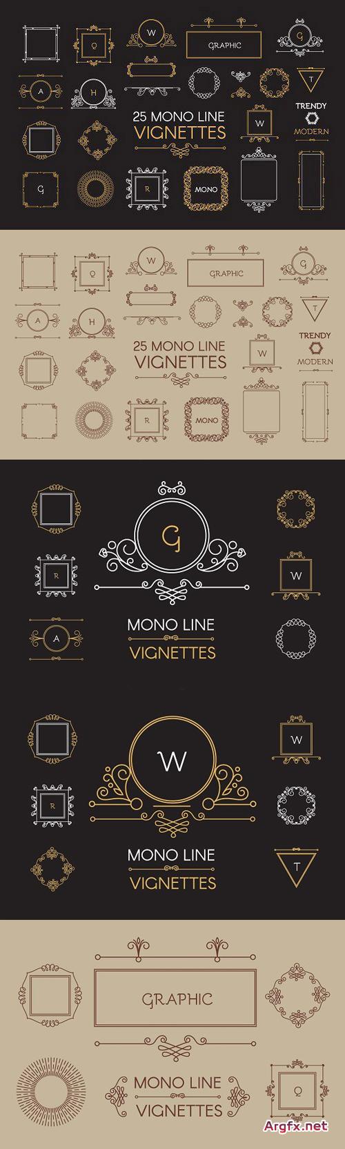 CM - Vintage Vignettes Set. Vector,Raster 670371