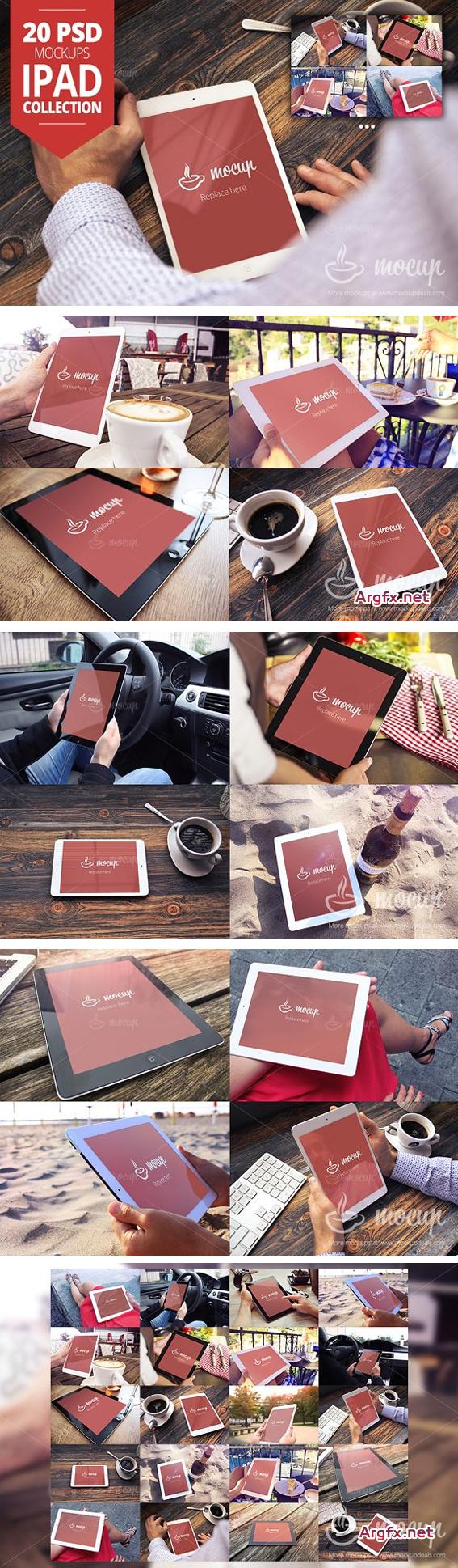 CM 223003 - 20 PSD iPad Mockup Collection
